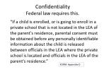 confidentiality federal law requires this