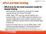 spla and web hosting