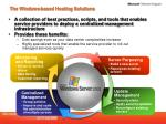 the windows based hosting solutions