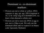 dominant vs co dominant markers