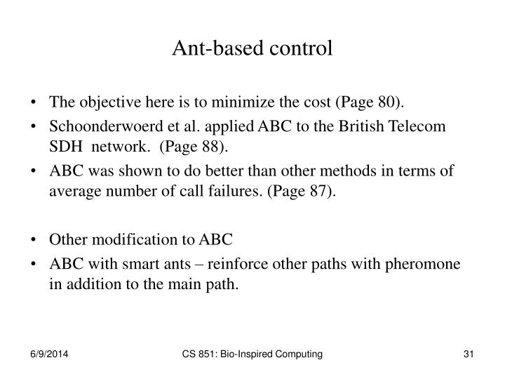 Ant-based control
