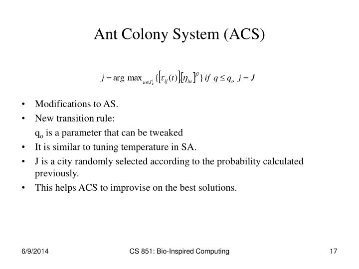 Ant Colony System (ACS)