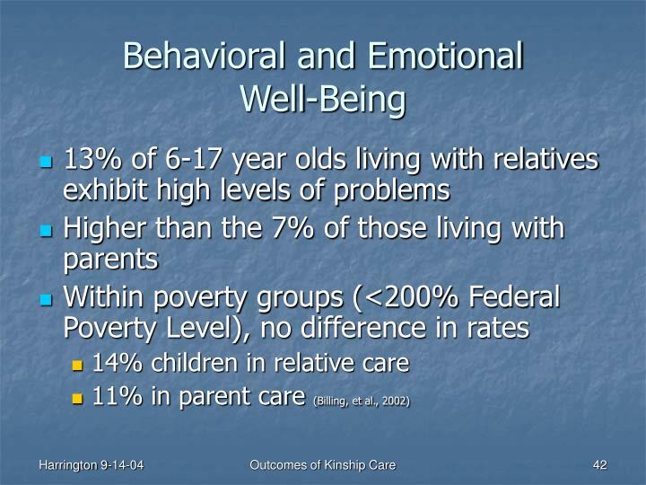 Behavioral and Emotional