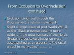 from exclusion to overinclusion continued1