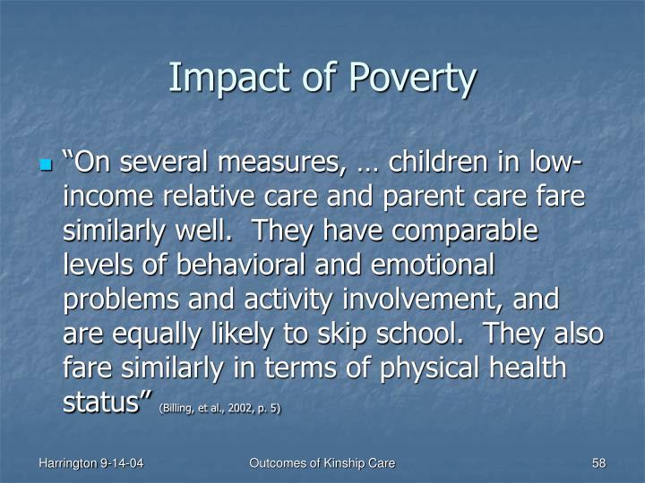 Impact of Poverty