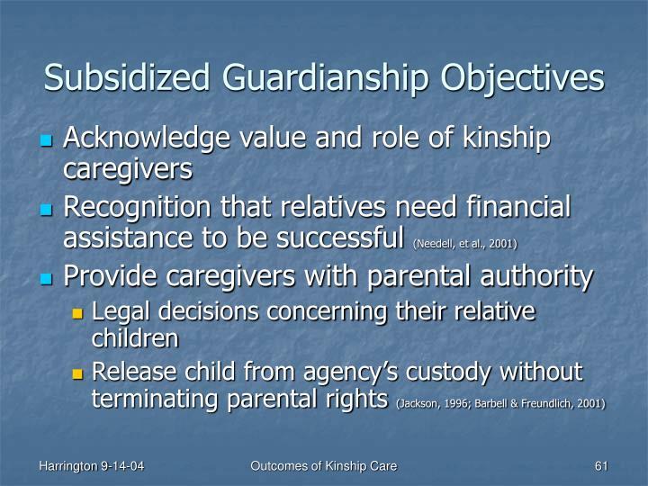 Subsidized Guardianship Objectives