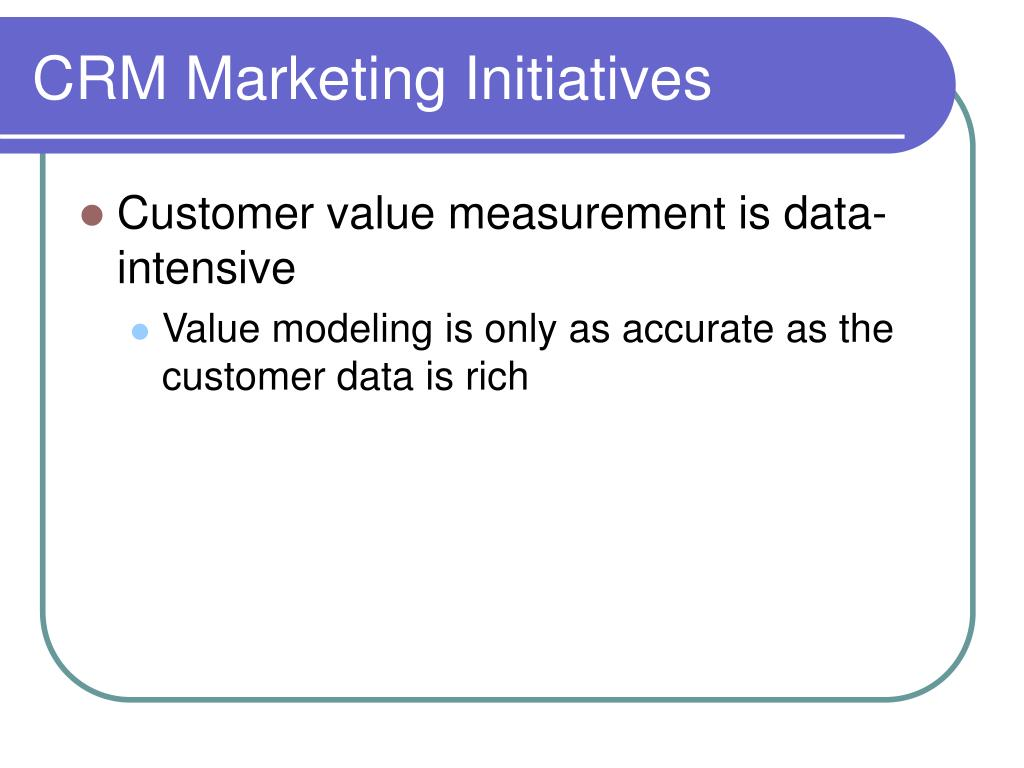 CRM Marketing Initiatives