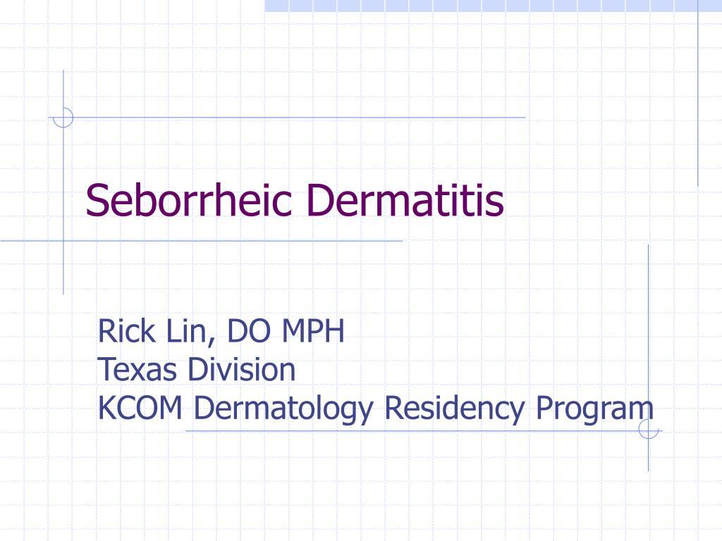 seborrheic dermatitis l.
