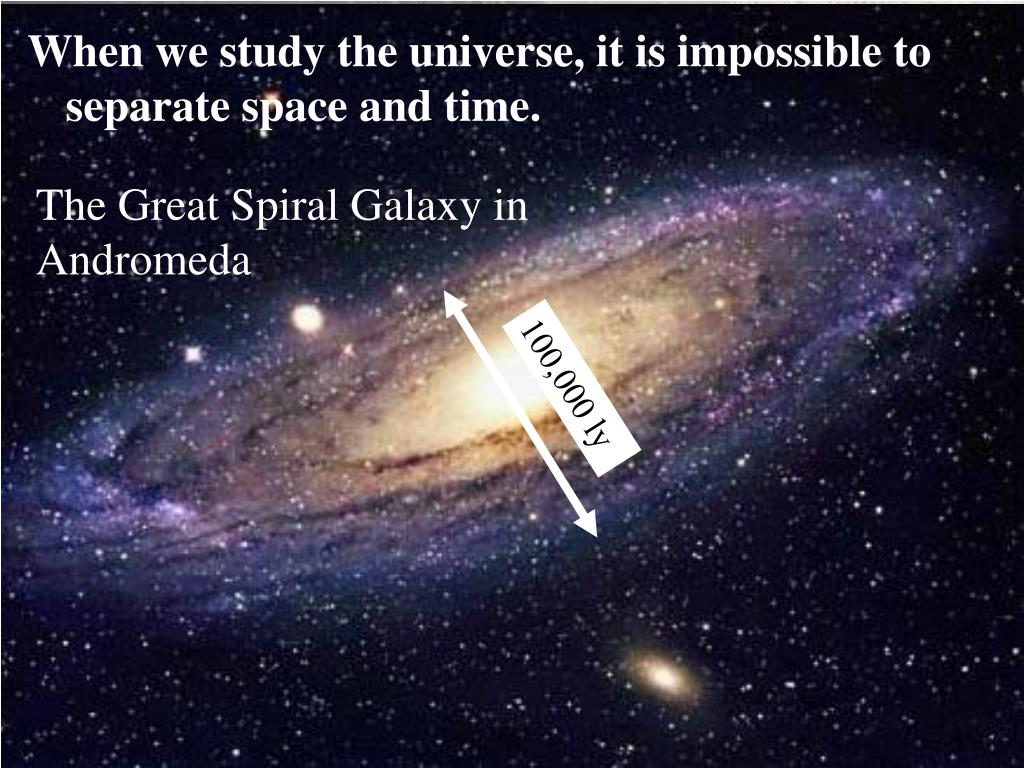 When we study the universe, it is impossible to separate space and time.