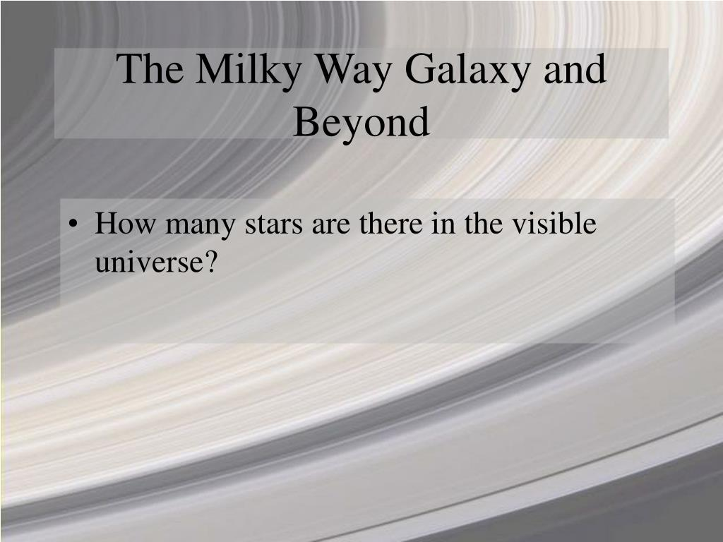 The Milky Way Galaxy and Beyond