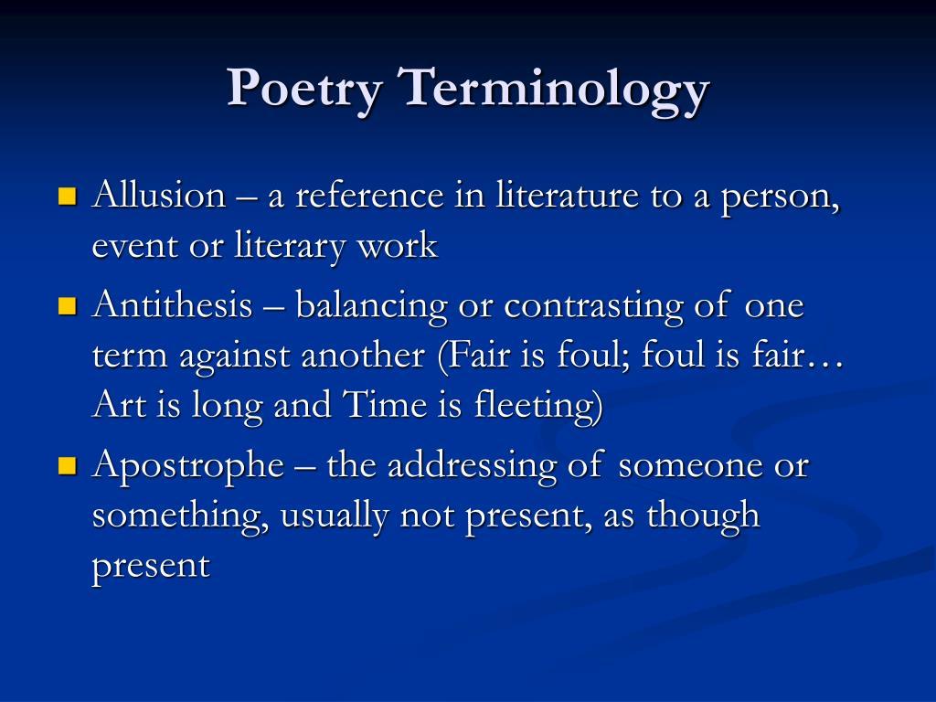 poetry terminology l.