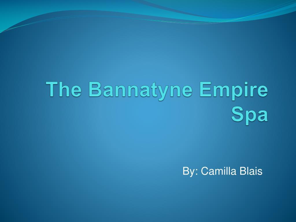 the bannatyne empire spa l.