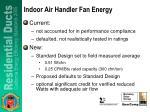 indoor air handler fan energy