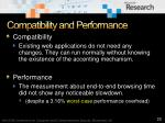 compatibility and performance
