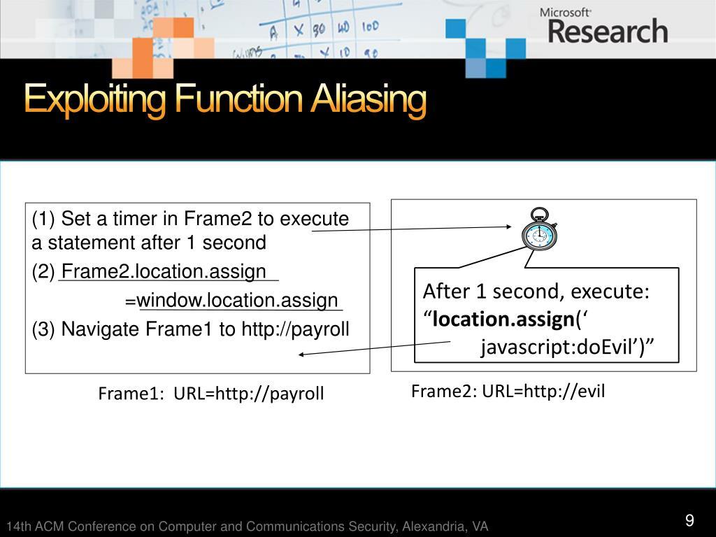 Exploiting Function Aliasing