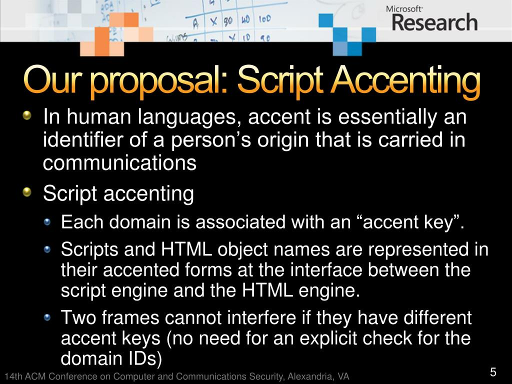 Our proposal: Script Accenting