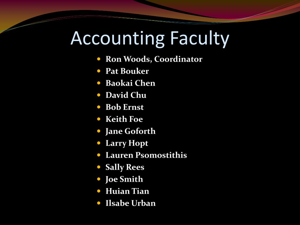 Accounting Faculty