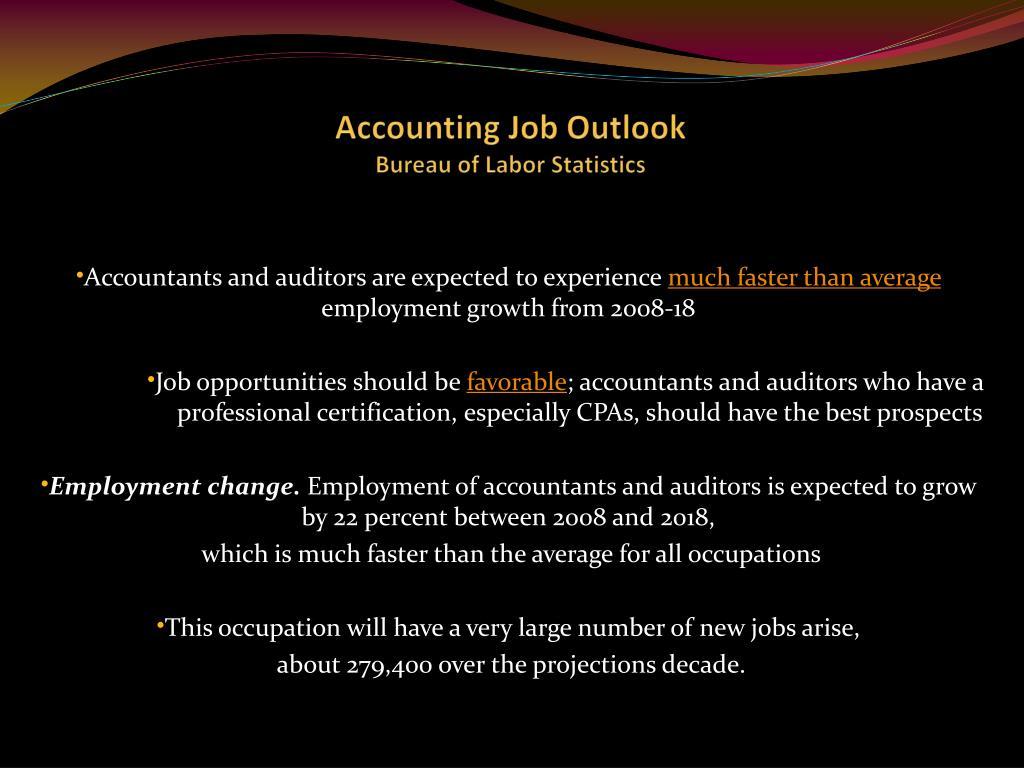 Accounting Job Outlook