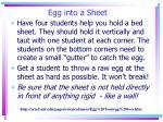 egg into a sheet
