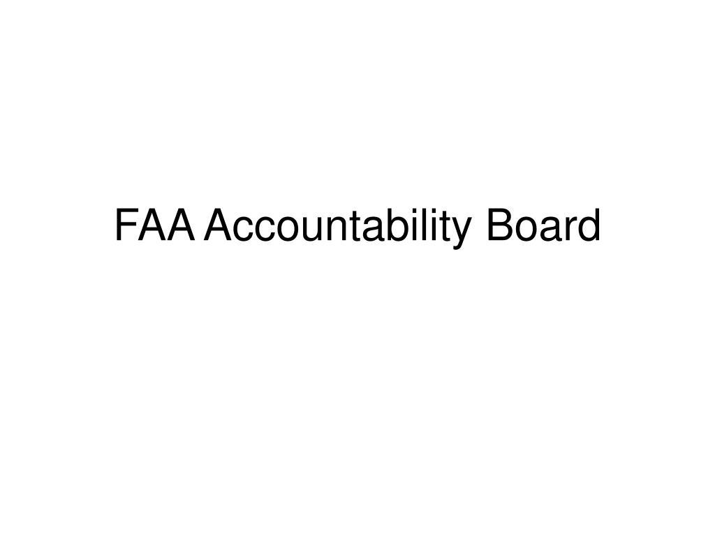 FAA Accountability Board