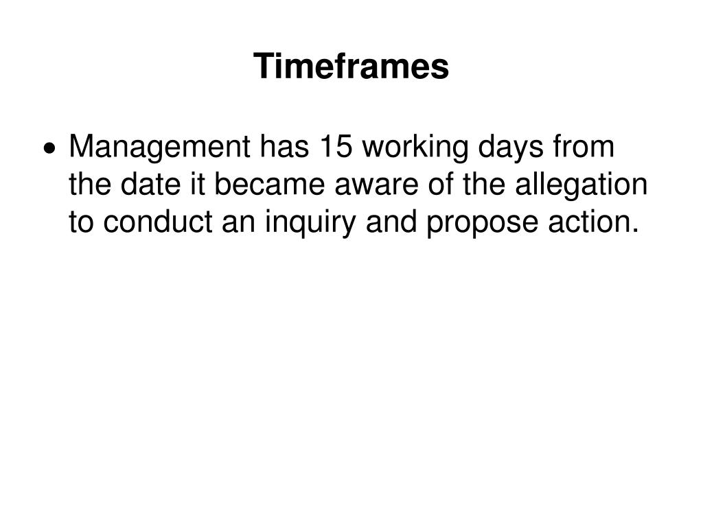 Timeframes