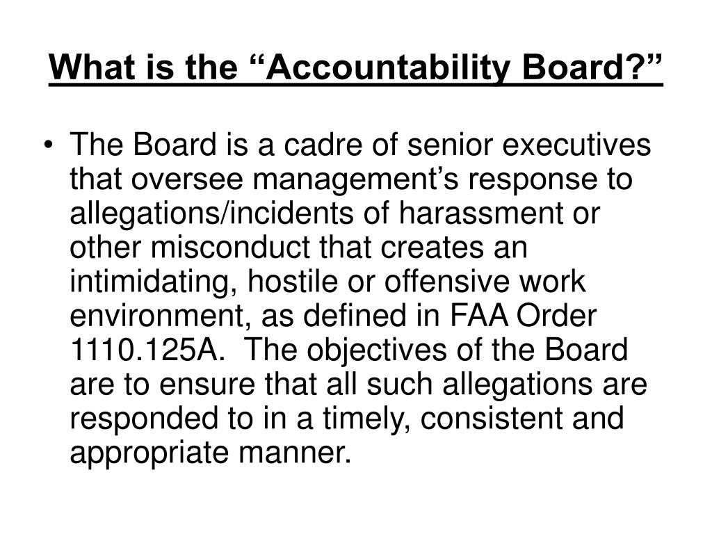 """What is the """"Accountability Board?"""""""