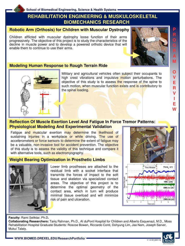 REHABILITATION ENGINEERING & MUSKULOSKELETAL BIOMECHANICS RESEARCH