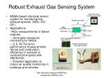 robust exhaust gas sensing system