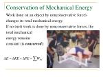 conservation of mechanical energy27