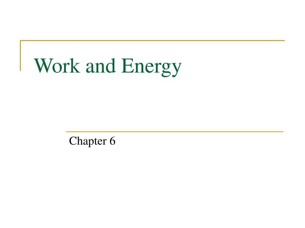 work and energy l.