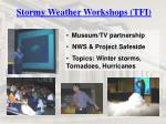 stormy weather workshops tfi