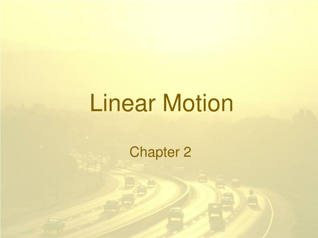 linear motion l.