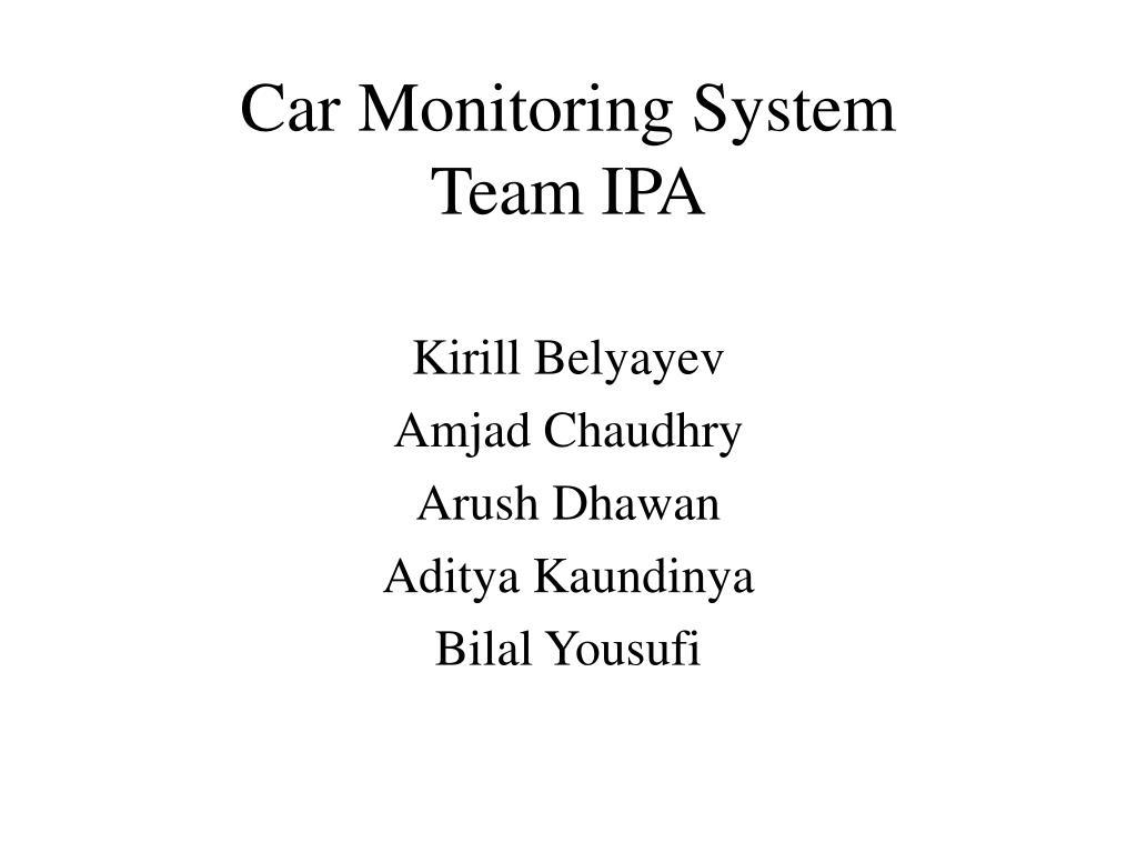 car monitoring system team ipa l.