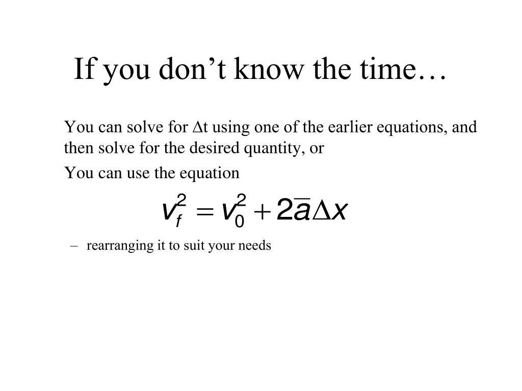 If you don't know the time…