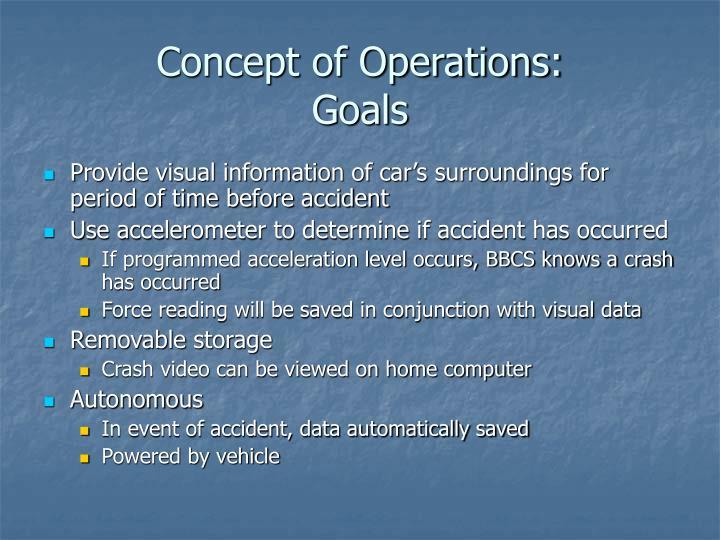 Concept of operations goals