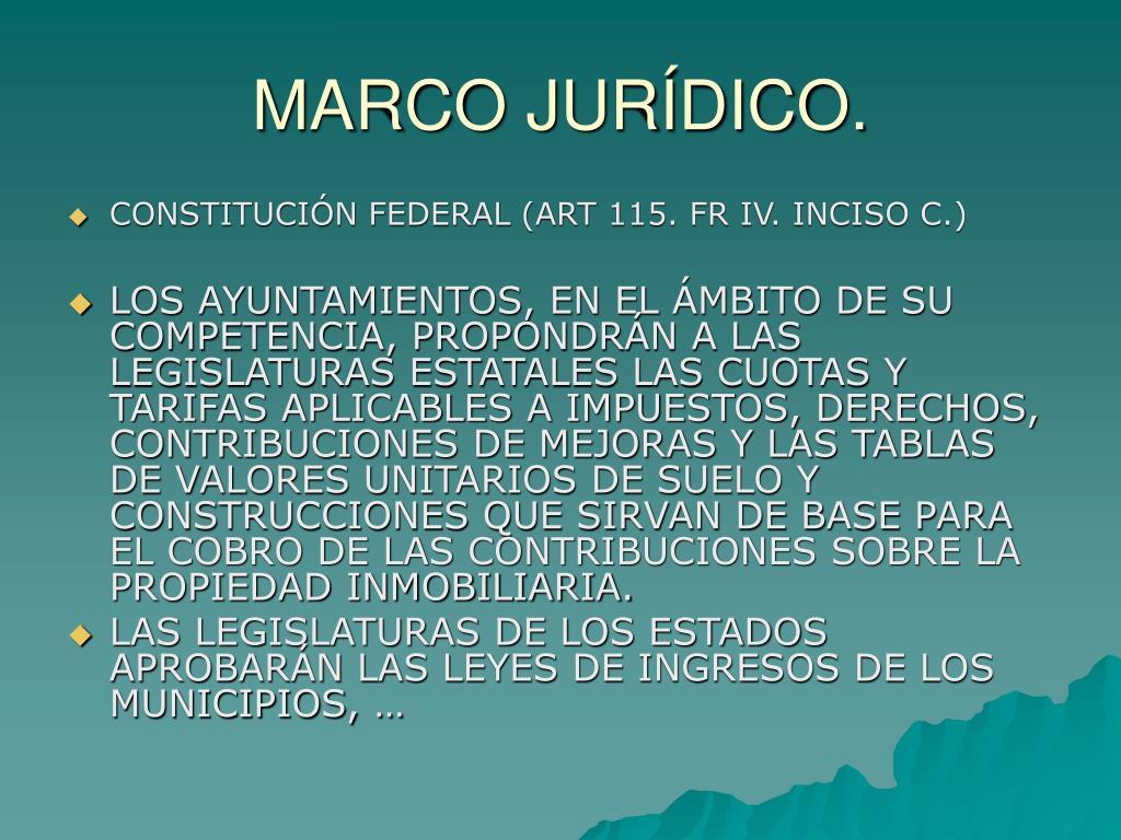 MARCO JURÍDICO.