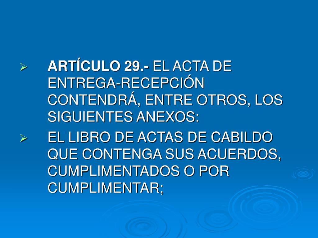 ARTÍCULO 29.-