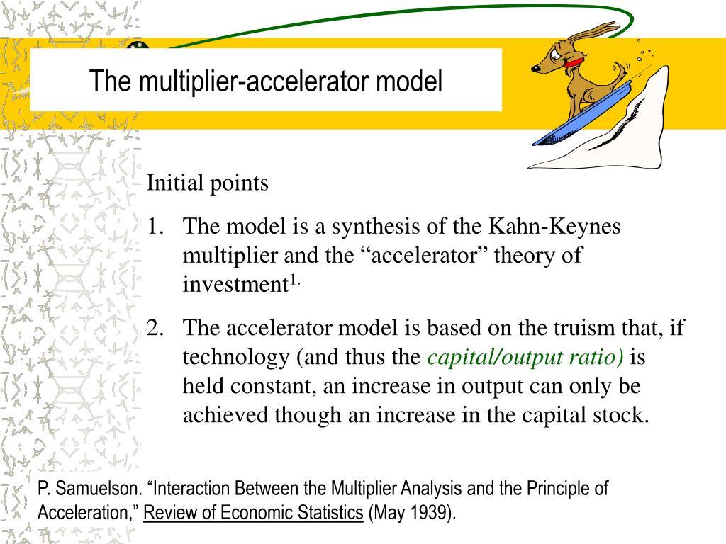 the multiplier accelerator model l.