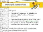 the multiplier accelerator model