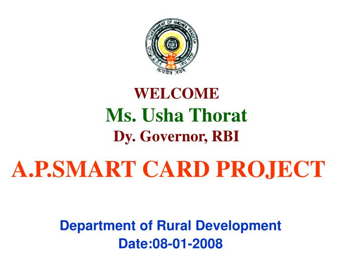Welcome ms usha thorat dy governor rbi