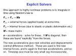 explicit solvers