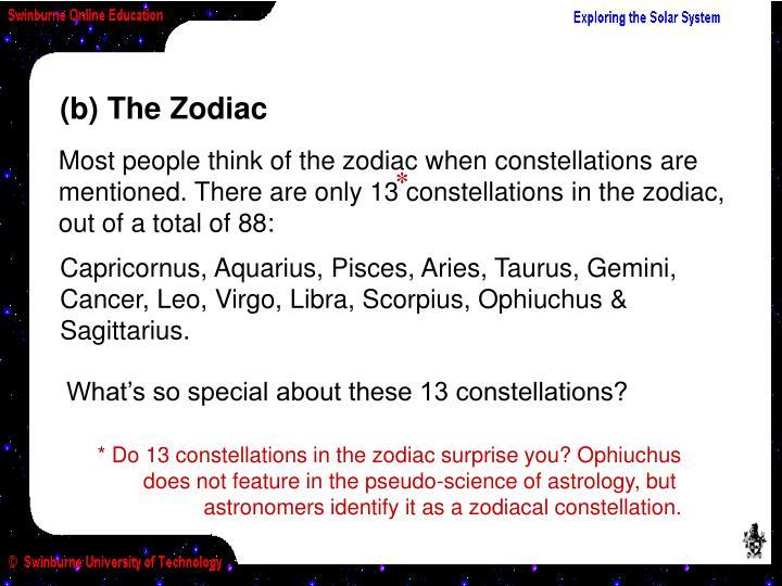 (b) The Zodiac