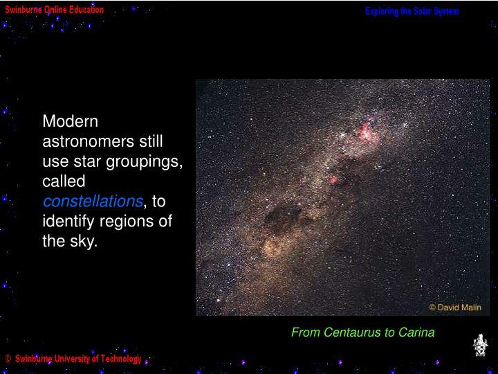 From Centaurus to Carina