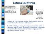 external monitoring