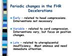 periodic changes in the fhr decelerations