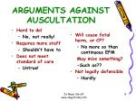 arguments against auscultation