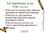 for hypothesis to be true paneth 1993