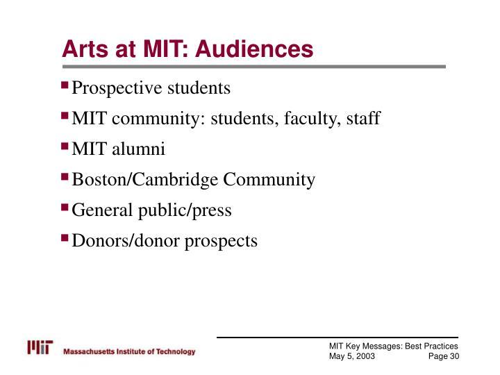 Arts at MIT: Audiences