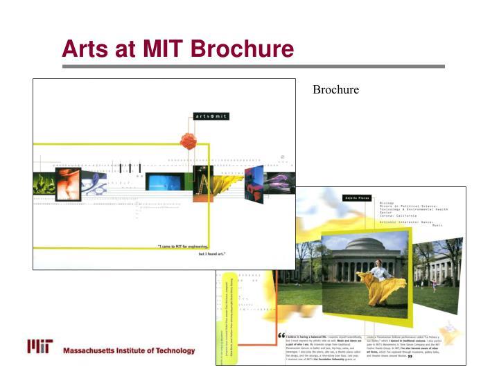 Arts at MIT Brochure