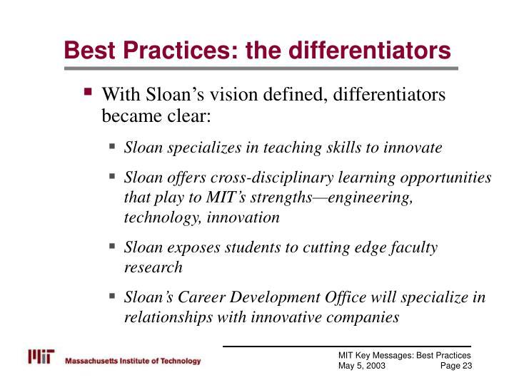 Best Practices: the differentiators